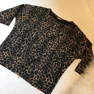 ZARA dolman sleeve leopard top Size Small